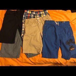 Lot of 5 khaki/cotton boys shorts sizes 6/7-8